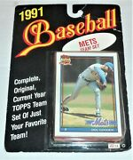 1991 Topps Mets Team Set In Package Shows Wear Dwight Gooden On Top