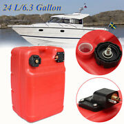 24l Boat Yacht Engine Marine Outboard Yamaha Fuel Tank Oil Box Container Plastic
