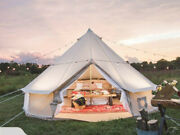 Luxury 3/4/5/6m Cottoncanvas Family Bell Tent Glamping Yurt For Wedding Or Party