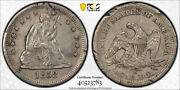 1858 S 25c Seated Liberty Quarter Pcgs Xf Extra Fine Details Damaged Key Date...