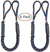 2 Pack Marine Bungee Dock Line Boat Mooring Rope Anchor Cord Stretch Elh