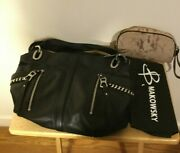B. Makowsky Alice Glove Leather Shopper Bag With Chain Detail And Cosmetic Case