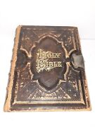 Vintage Illustrated Holy Bible Holmanand039s Edition 1887 Gold Edge Rare