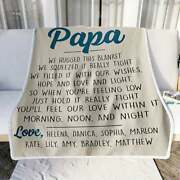 Personalized Papa Blanket Fathers Day Gifts Father Birthday Gifts