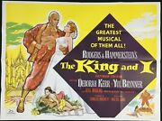 King And I Original Quad Movie Poster Rogers Hammerstein Yul Brynner Chantrell