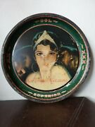 Antique Mexican Moctezuma Brewery Beer Tin Tray From 30and039s Armando Drechsler 13