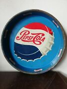 Vintage Mexican Pepsi Cola Tin Tray From 50's Advertising