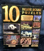 10 Deluxe Jigsaw Puzzles 1000 Pieces +750 Pieces+500 Pieces Brand New Sealed