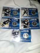 Lot Of 5 Tampa Bay Lightning Hockey Nhl Stanley Cup 2004 Silver Coins