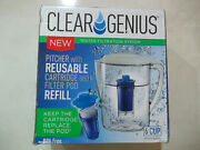 New 6 Cup Clear Genius Water Pitcher Filtration System Fwp-1+ Filter Pod Refill