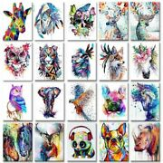 Diy Painting By Numbers Colorful Animals Hand Painted Oil Pictures Home Decor