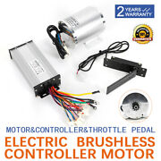 48v 1800w Brushless Motor Kit W/ Foot Pedal Andcontroller Electric Bicycle Scooter