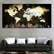 5d Diy Diamond Painting Large Black World Map Activities At Home Wall Decoration