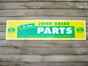 New Early John Deere Equipment Dealer Parts Sign/ad W/4leg/8 Point Buck 1and039x46