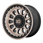 20 Black Bronze Wheels Rims Xd Series Omega Xd856 Jeep Wrangler Jk 20x10 Set 5