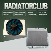 3 Row Aluminum Radiator And Fan Shroud And Fan For 69-73 Ford Mustang Mercury Comet