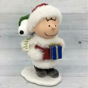At Christmas Charlie Brown And Snoopy Figures