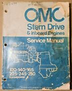 Used Omc Stern Drive And Inboard Engines Service Manual P/n 980627 9/73