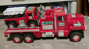 Hess Truck 2015 Fire Engine And Rescue Hauler Set Toy Vehicle Emergency Responder