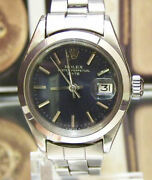 Swiss C 1973 Vintage Rolex 6919 Lady Oyster Date Just Steel Cal 2030 Serviced