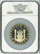 1987mo Mexico Piefort Silver 10oz 14th Numismatic Convention Ngc Pf64uc Rare C
