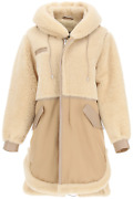 New Mr And Mrs Italy Cotton Parka With Leather And Shearling Inserts Xpk0319 Cappu