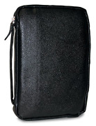 Divinity Boutique Leather Bible Cover Midnight Black - Extra Large 19556