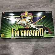 Vintage Bandai 1995 Mmpr White Ranger's Deluxe Falconzord 1995 With Box