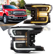 Projector Headlight For Ford F-150 20182020 Led Sequential Corner Light Pair