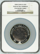 2008 S50 Cook Islands 5oz Silver Mother Of Pearl Tale Of Caribbean Ngc Pf69uc B