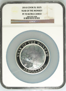 2016 S25 Cook Islands 5oz Silver Mother Of Pearl Year Of The Monkey Ngc Pf70uc