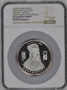 1999 China Silver 5oz Confucius - Meng Zi Official Mint Medal Ngc Pf67uc