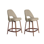 Authentic Knoll® Saarinen Executive Counter Stool Set Of 2   Design Within Reach