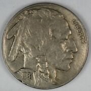 1931-s United States Buffalo Nickel - Xf+ Extra Fine Plus Condition