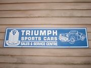 New And03950and039s Style Triumph Tr-3 Sports Car 1and039x46 Metal Sign/ad W/roadster Graphic