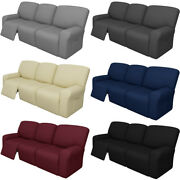 8pcs Recliner Sofa Slipcover Jacquard Couch Cover Furniture Protector Multicolor