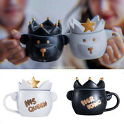 Starbucks 2021 Valentineand039s Day King Queen Bear Mug Cup 296ml White Black Set