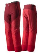 Descente Mens Insulated Regular Fit Ski Pants Red Size W34 L32