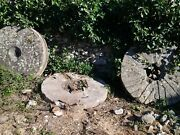Olive Mill Stones Traditional Three 3 For Decorating Gardens And Parks.