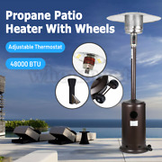 48000 Btu Patio Heater Outdoor Propane Gas Floor Stand Heating Give Dust Cover