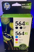 Hp 564xl Black And Color Ink Cartridge High Yield 5 Pack 01/2019