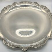 Poole Old English 15 Round Tray Platter 5002 Silverplate Epca