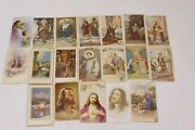 Lot Of 19 Vintage Religious Holy Cards - Funeral Cards Some Printed In Italy