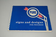 Rare 1956 Pure Oil Signs And Designs For Progress Book Merchandising Advertising