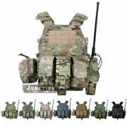 Emerson Lbt-6094a Tactical Plate Carrier Vest W/ Mag/radio/accessories Pouches