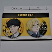 Banana Fish Ash And Eiji Medium Size Can Badge From Japan By Fedex