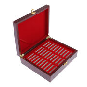 1pc Coin Cases Storage Box For 30 Grids Coin 46mm Holder Case Wooden Box