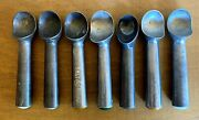 7pcs Vtg Roll Dipper Ice Cream Scoops 2-zeroll 20 5-unbranded Usa Salt And Straw