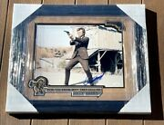 Clint Eastwood Signed Framed And Matted Dirty Harry 16x20 Color Photo Jsa Coa