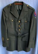 Wwii Ww2 Us Army Officerand039s Uniform Jacket With Eto Patches Adsec/oise